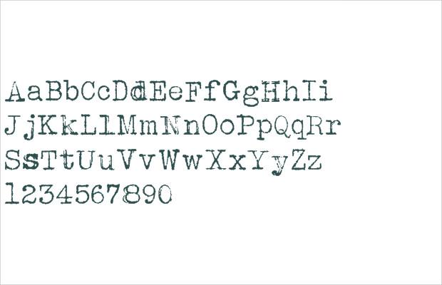 fancy type writer font