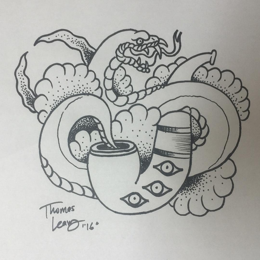 Simple Snake Tattoo Design