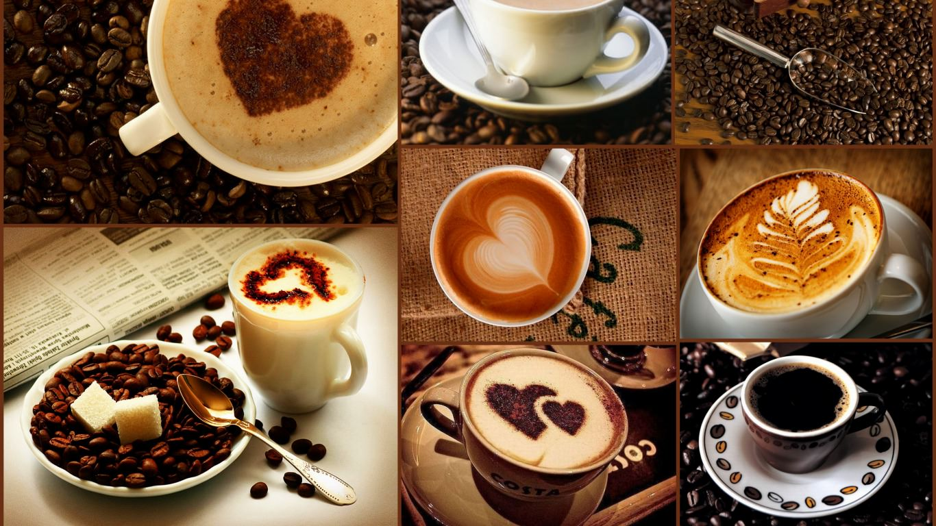 Love Coffee Cups Wallpaper