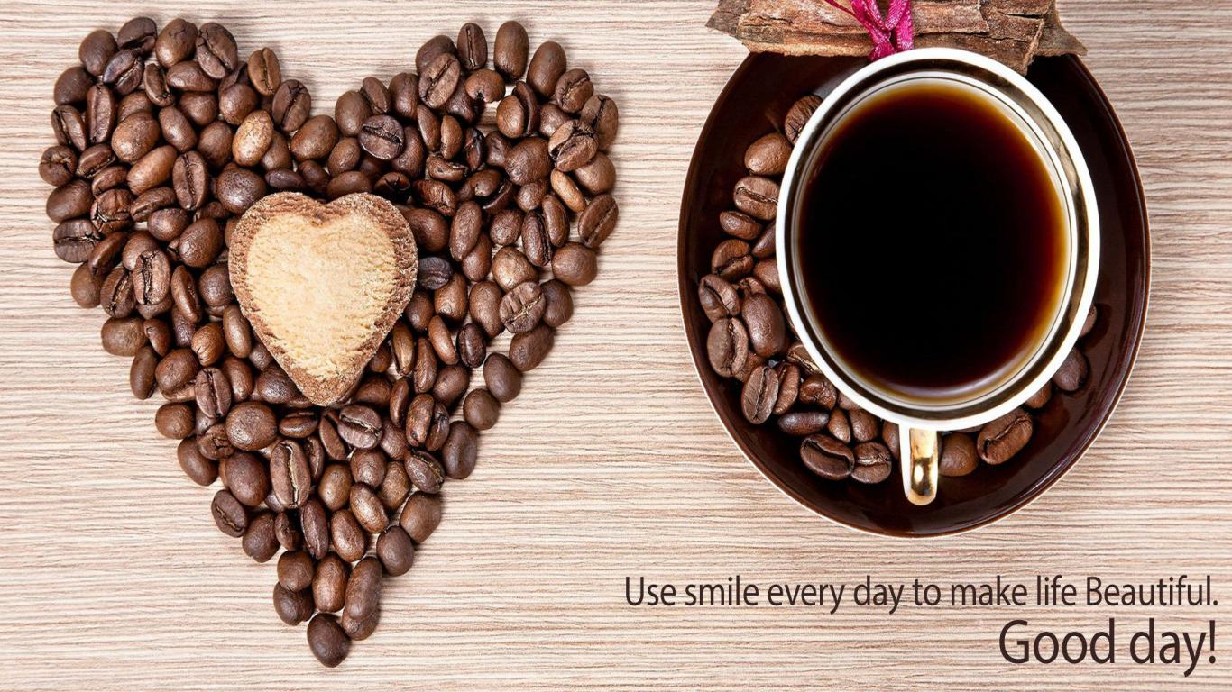 coffee cup and coffee beans wallpaper