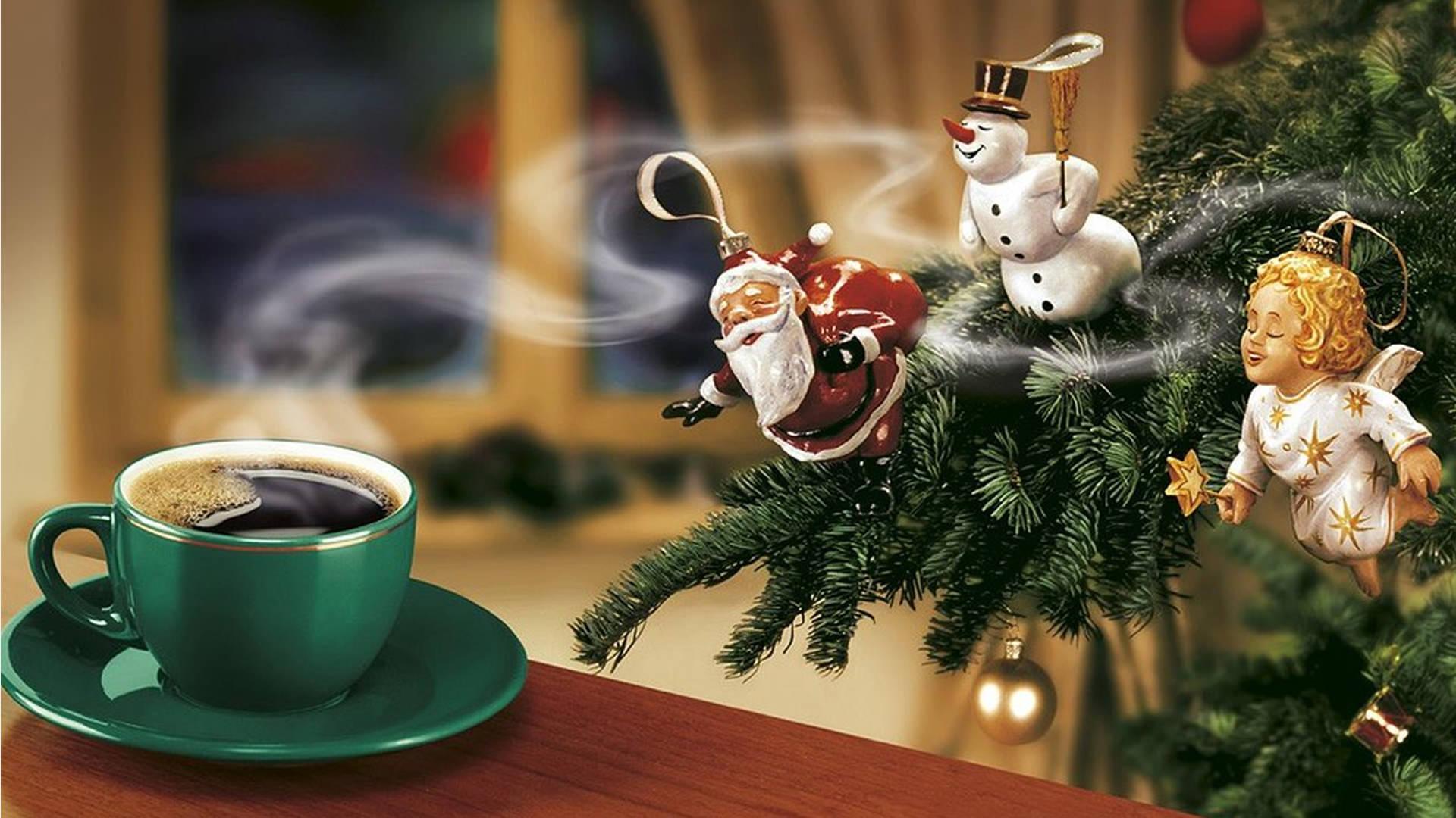 christmas coffee wallpaper