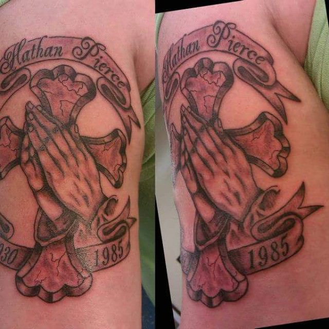 religious rip tattoo design
