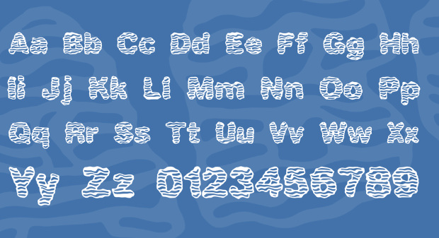 White Shaky Wave Fonts