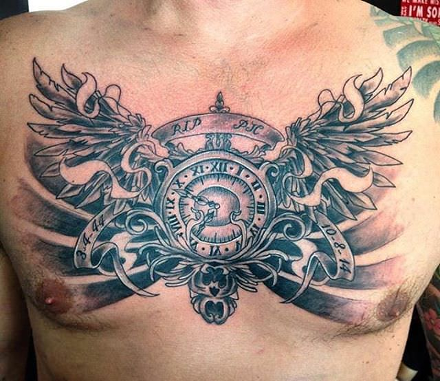 chest tattoo design2