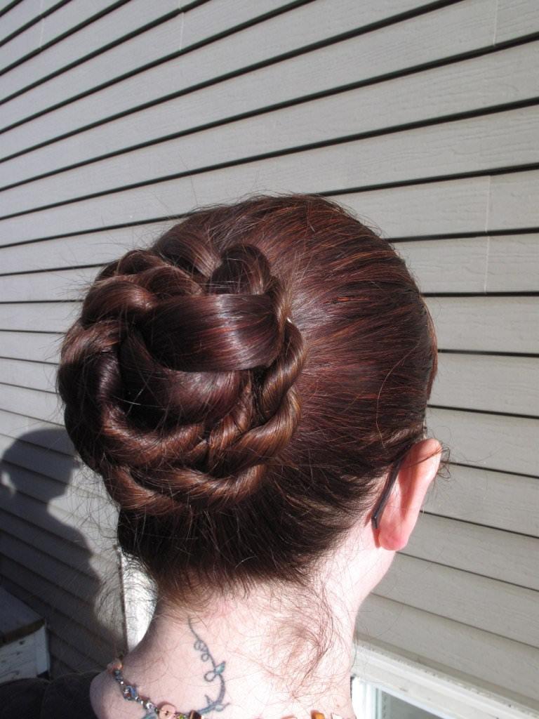 braid double bun