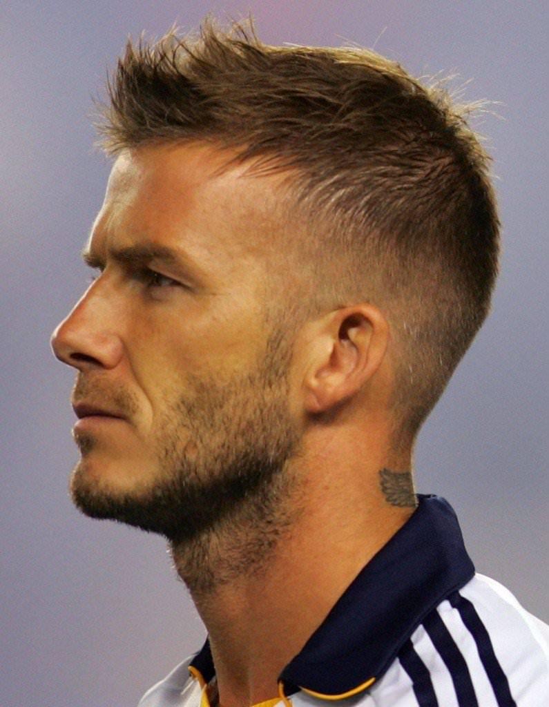 David Beckham Faux Hawk look