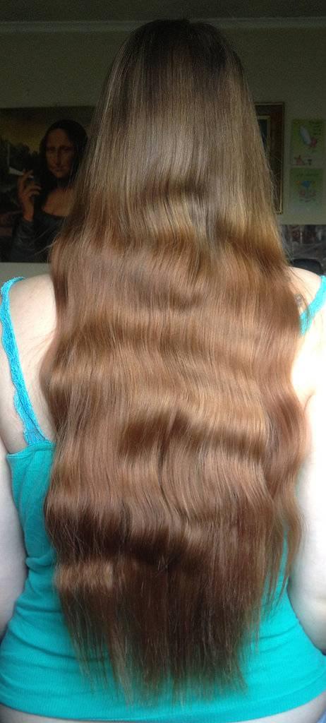 Natural long hair