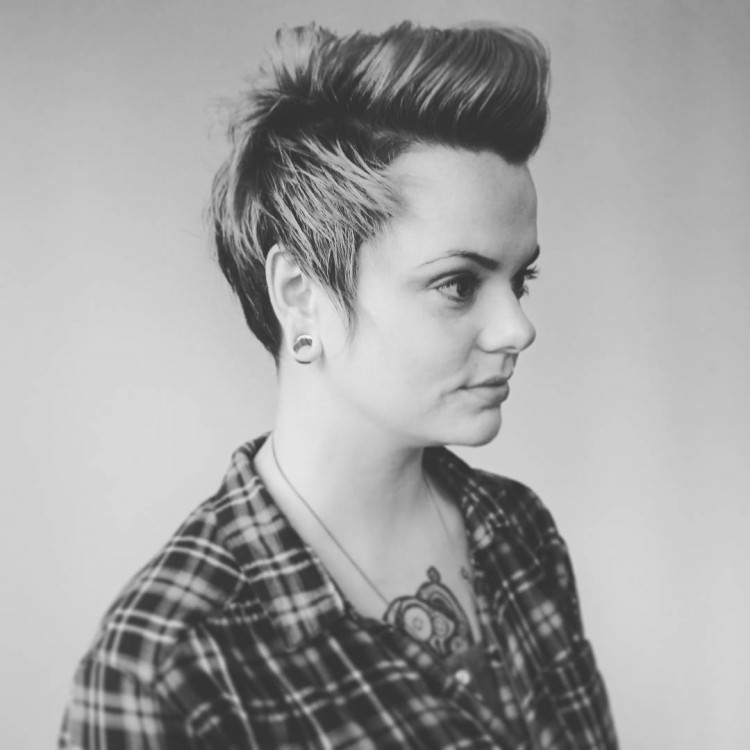 Naturally Short Mohawk hair style