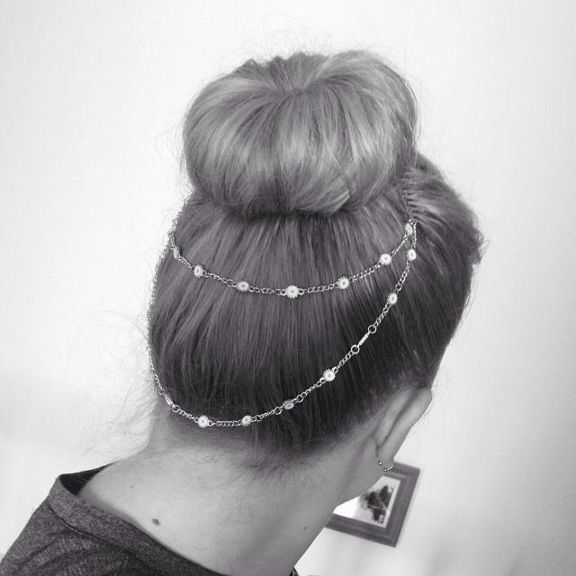 Thick up a Bun hair style