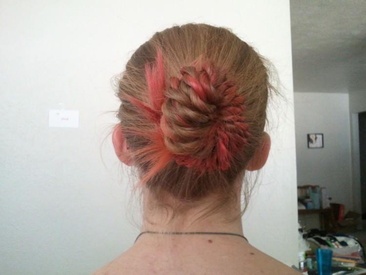 Twists-Bun natural hair style