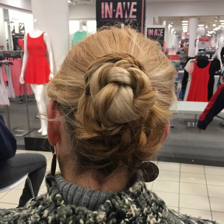 even braided buns