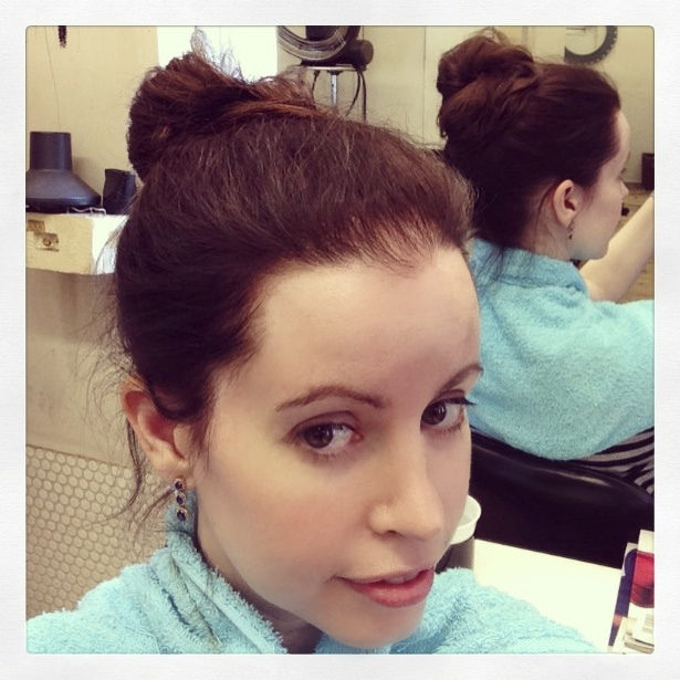 quick natural hairdo