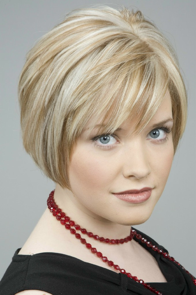 two toned crop cut hair style