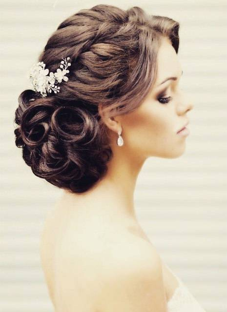 wedding Braid bun style