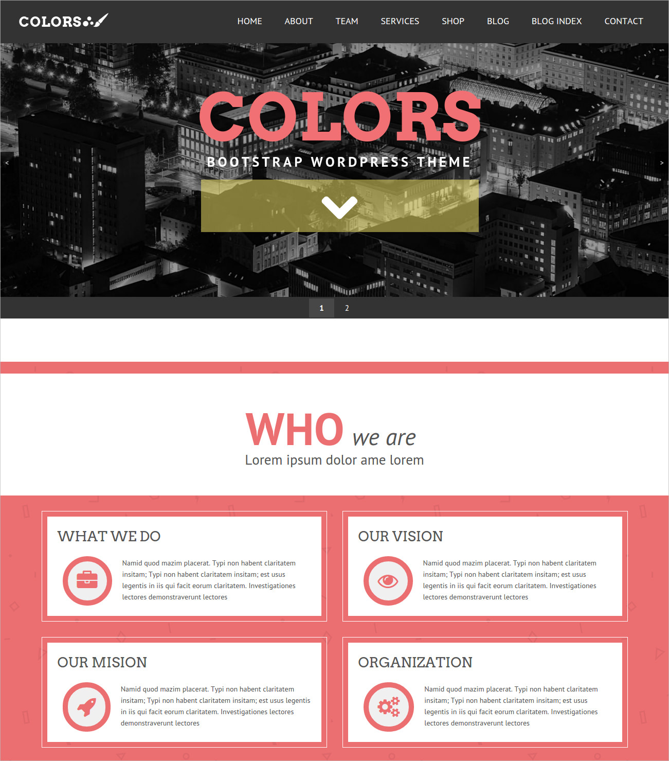 Colours Bootstrap WordPress Theme