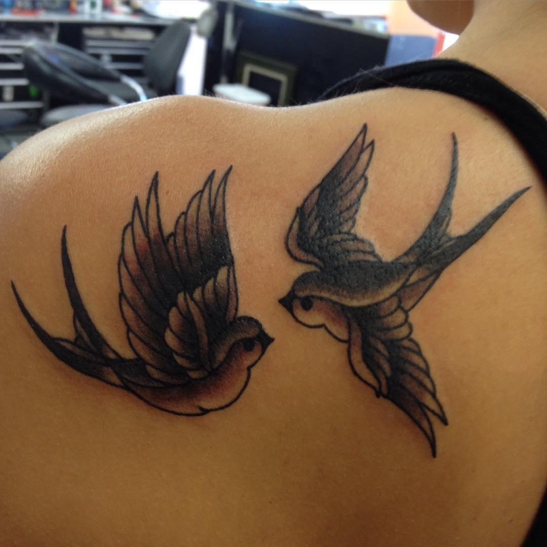 Beautiful Sparrow Tattoo Design