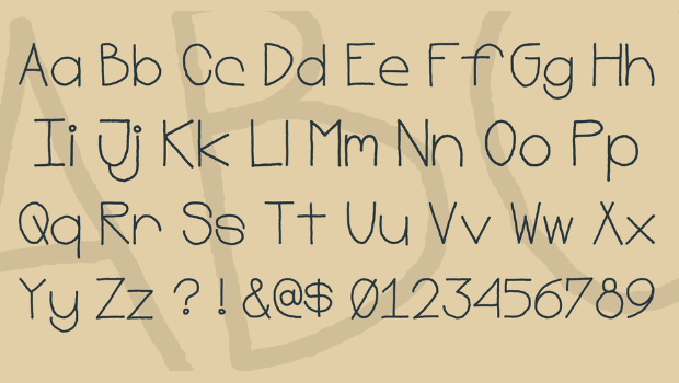 Simple Thin Fonts Characters