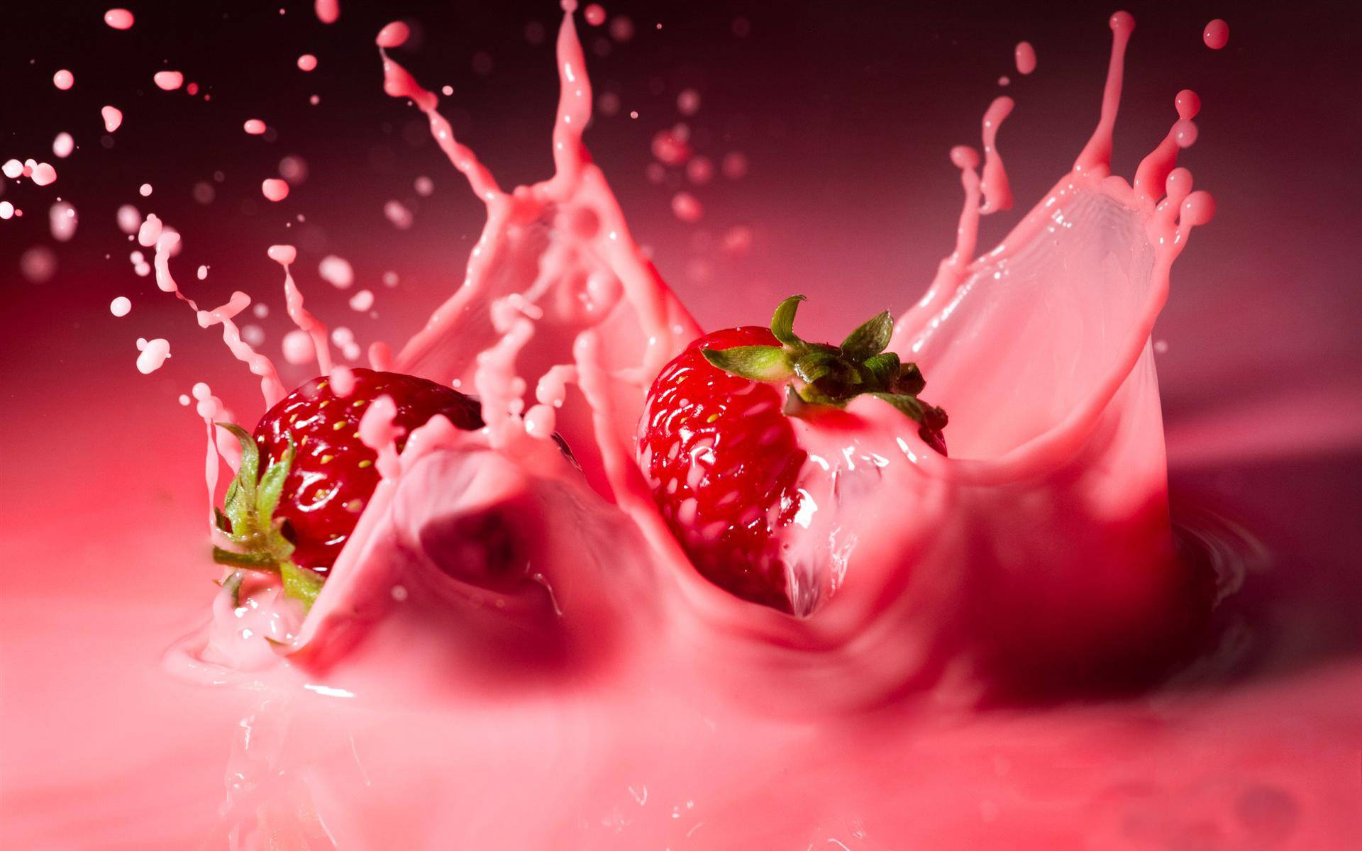 Strawberry Shake Wallpaper