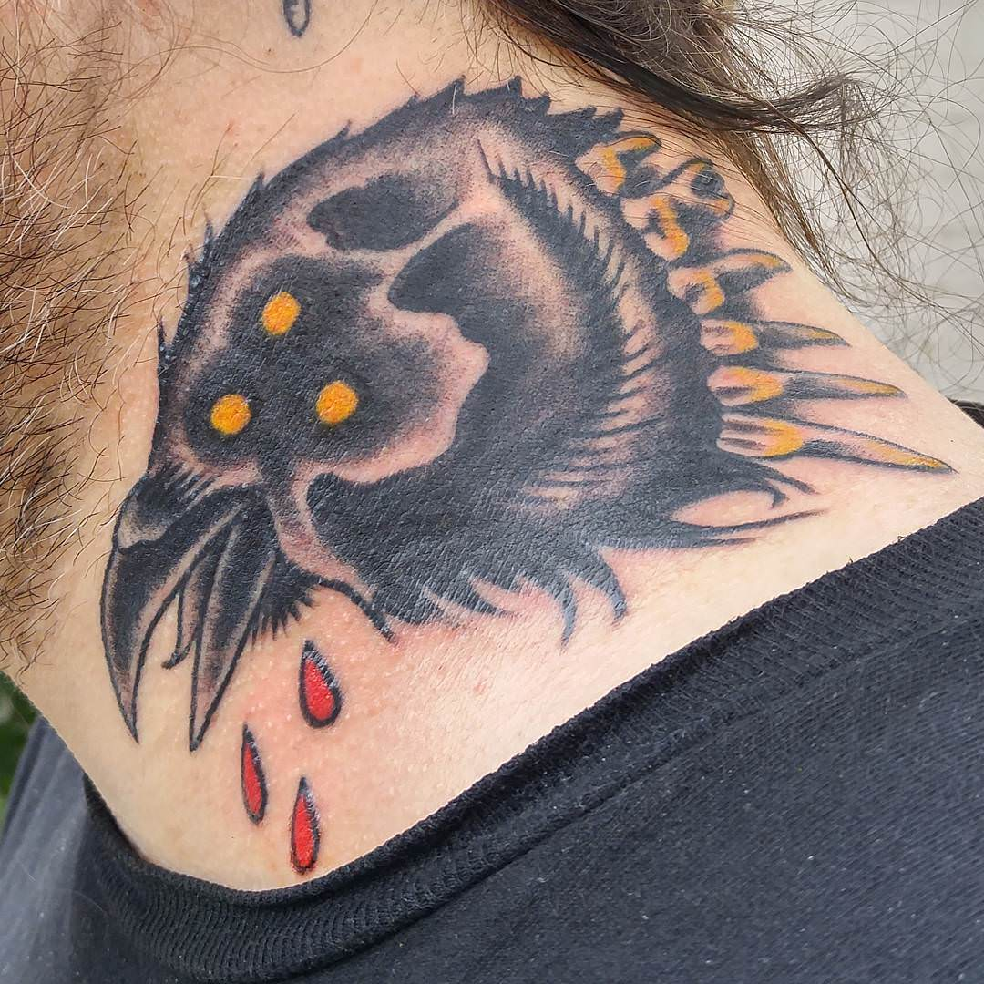 Shoulder Raven Tattoo Design