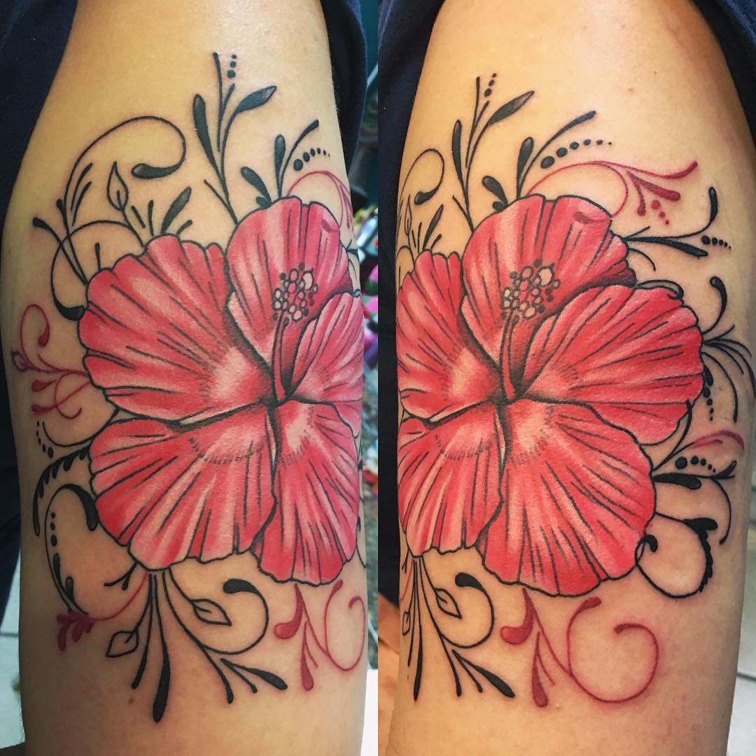 beautiful hibiscus flower design