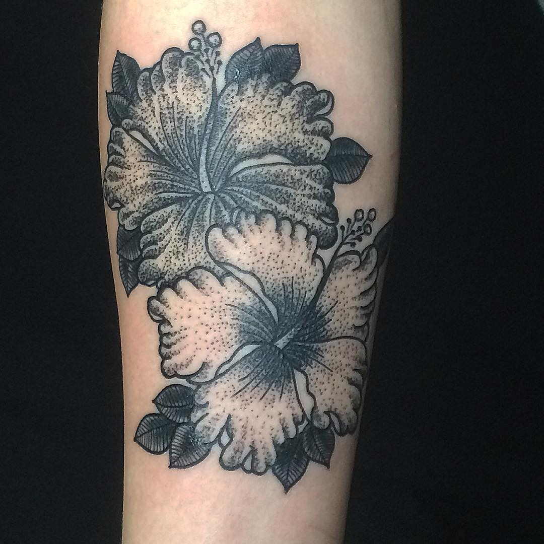 Hibiscus Flower Tatttoo Design