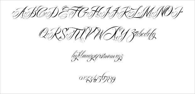 Round Beautiful Wedding Font