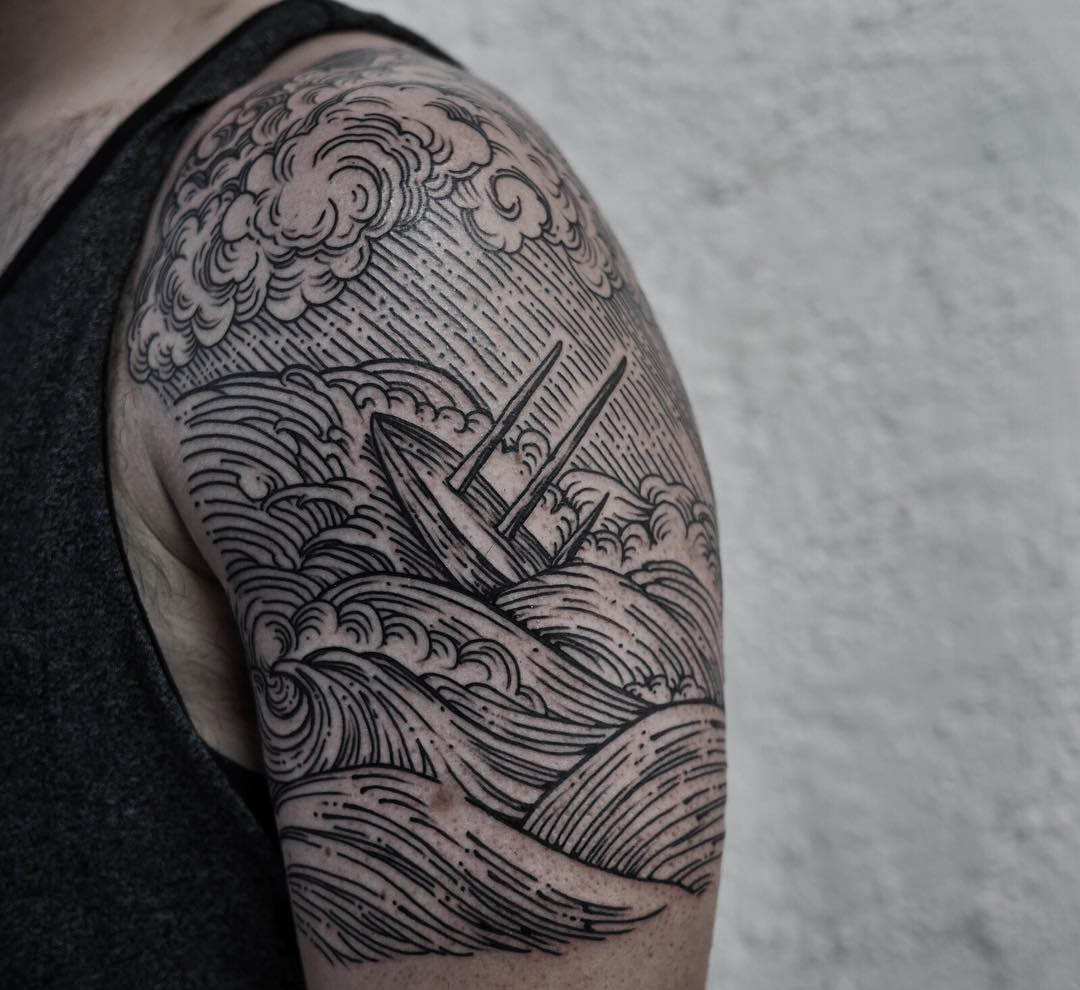 Landscape Water Tattoo