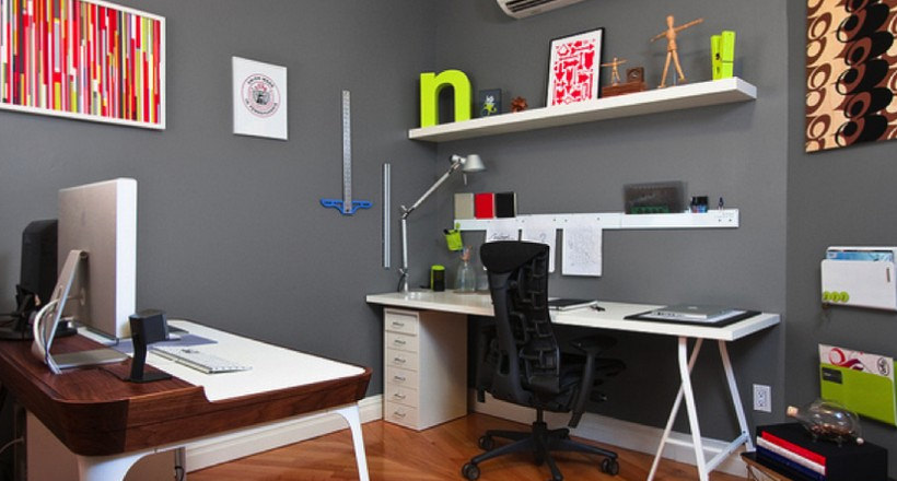 Img. In Retro Times Home Office Designs For Small Spaces ...