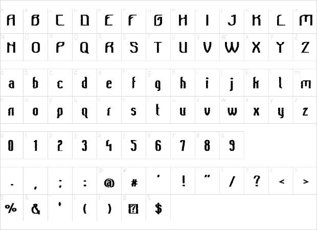 Awesome Vintage Font Letter