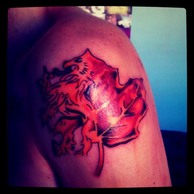 Red Scottish Tattoo Design