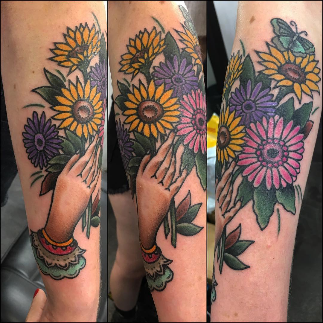 Sunflowers With Hands