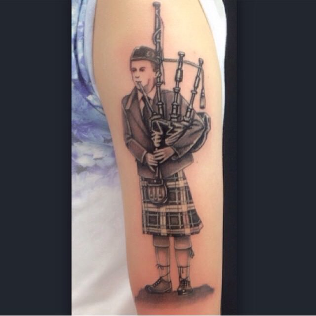 Man Scottish Tattoo Design
