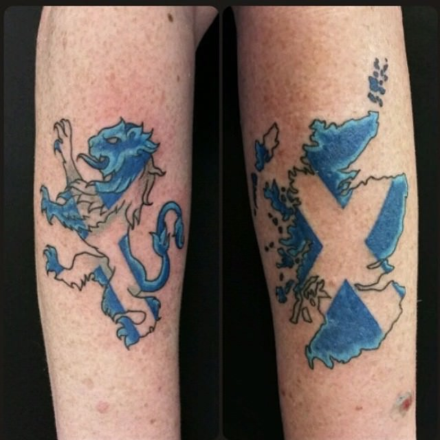 Scottish Flag Tattoo Ideas: 23+ Scottish Tattoo Designs, Ideas
