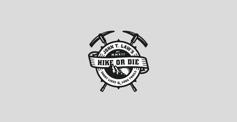 hike or die logo design