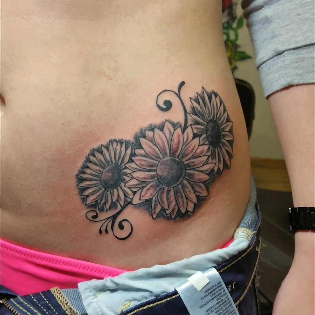 Gorgeous Sunflower on Hip