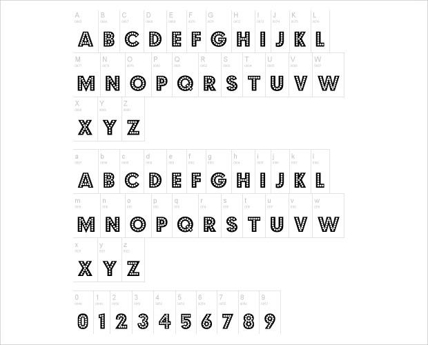 Dotted Simple Vinatge Fonts
