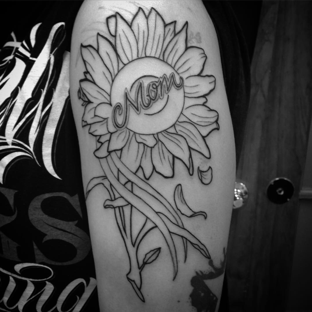 Sunflower with Lettering