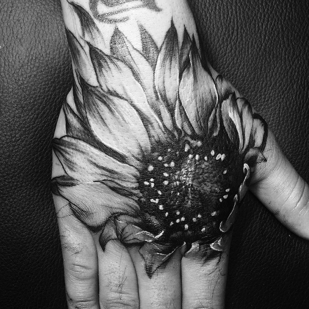 Sunflower on Palm