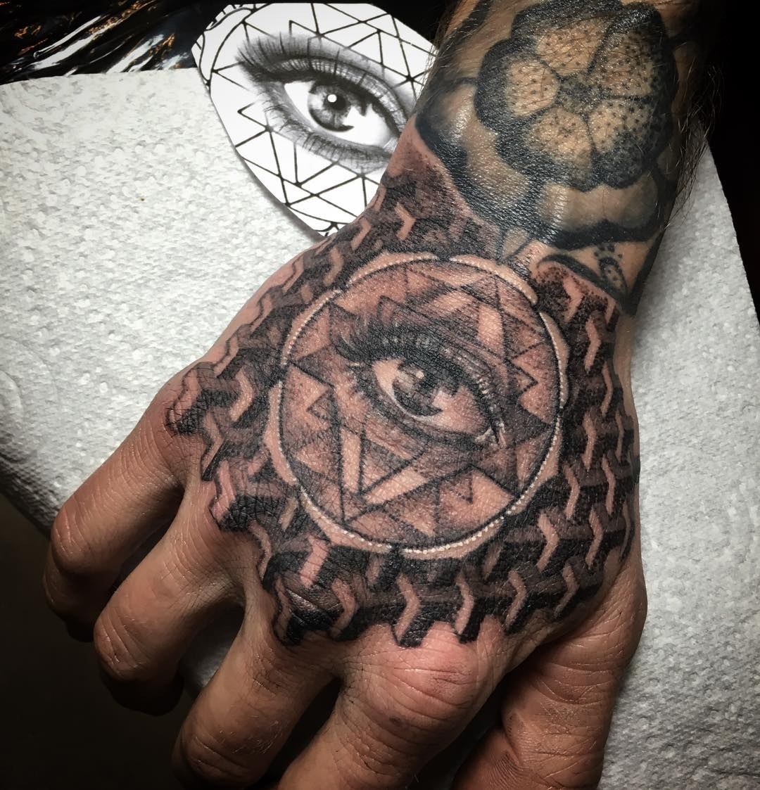 Full Hand Scottish Tattoo Design