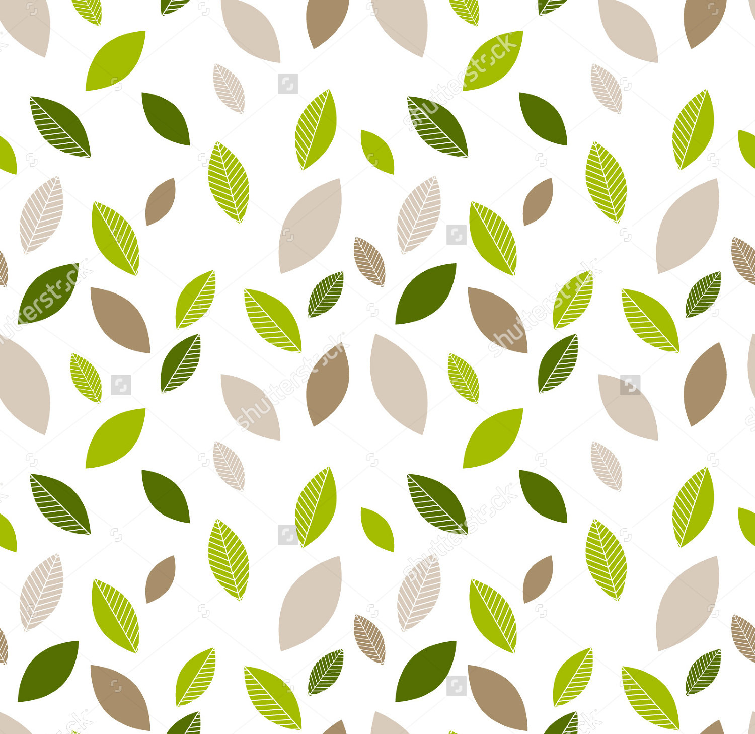 Decorative Seamless Leaf Pattern