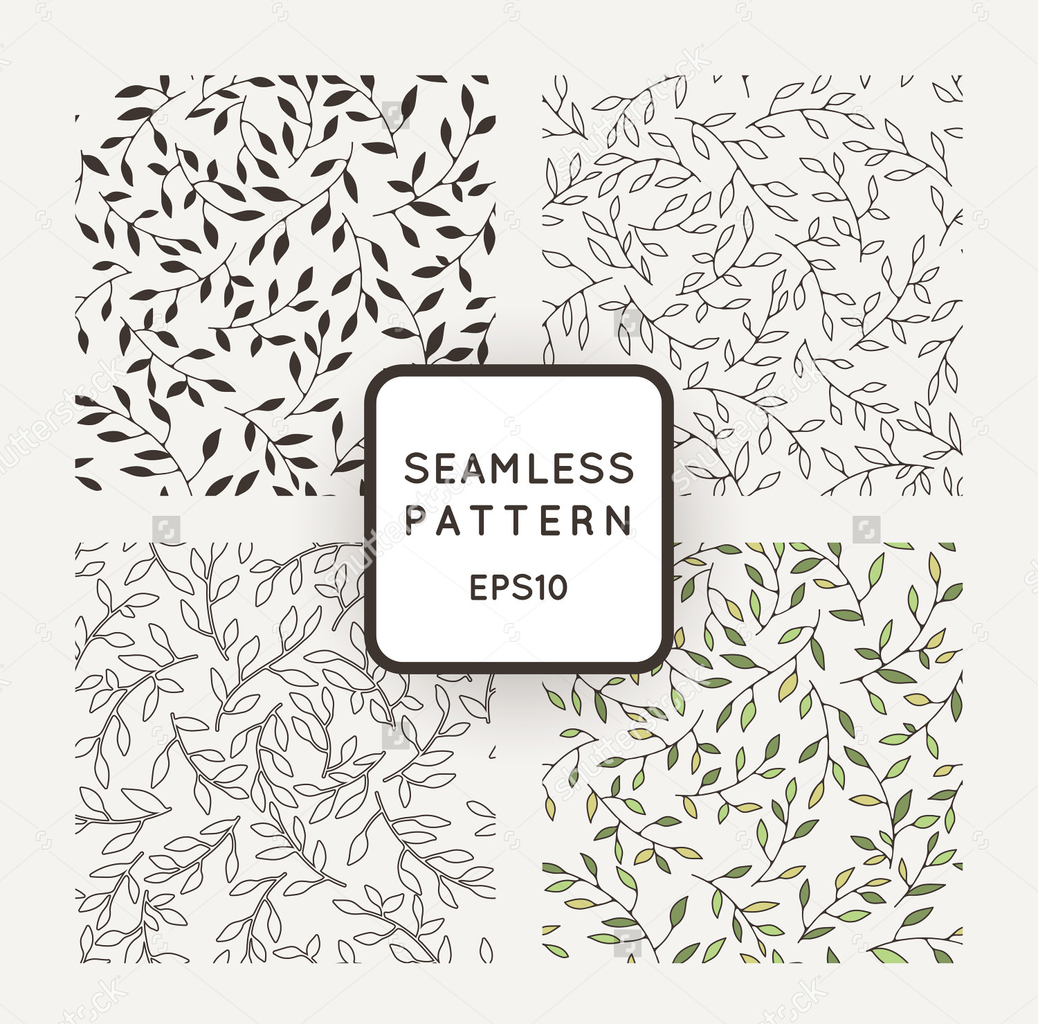 Seamless Leaf Patterns