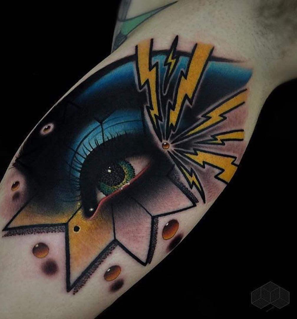Eye Inside Star Tattoo