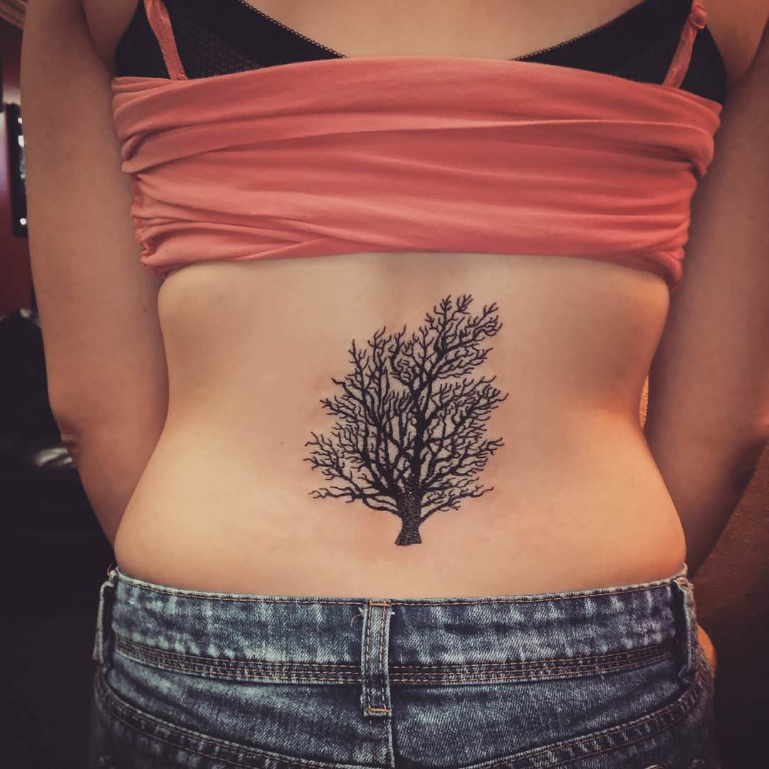 Black Tree Tattoo Design
