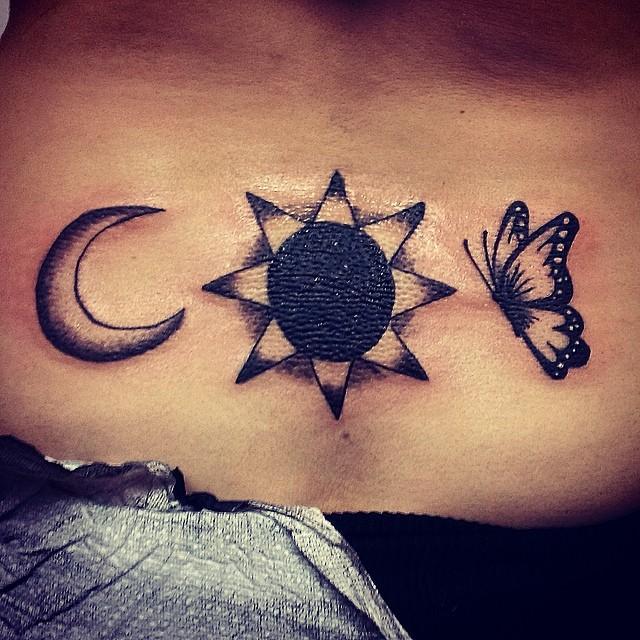 Sun & Moon Tattoo Design