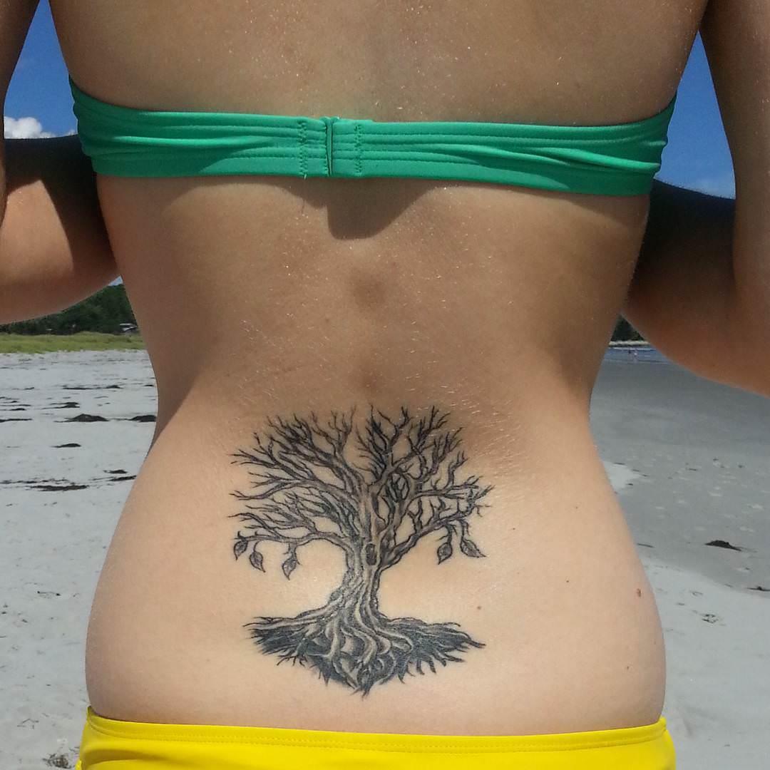 Tree Tattoo On Lower Back