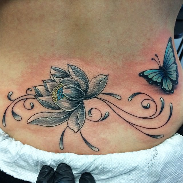 Trendy Tattoo On Lower Back