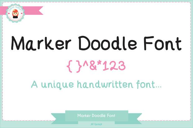 Marker Doodle Font