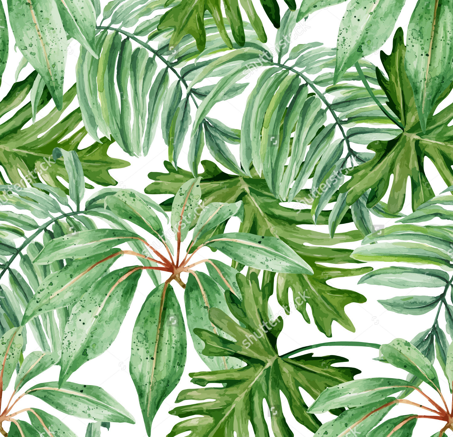 watercolor pattern design