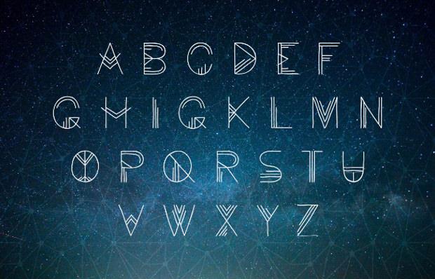 Handmade Geometric Doodle Font