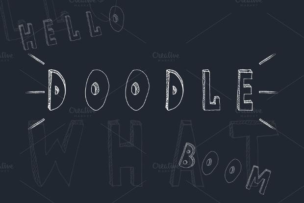 Cute Doodle Handwritten Style Font